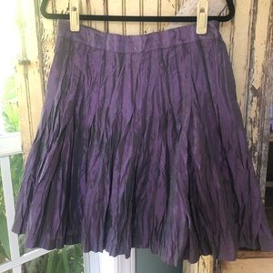 Adolfo Dominguez iridescent purple skirt size 42